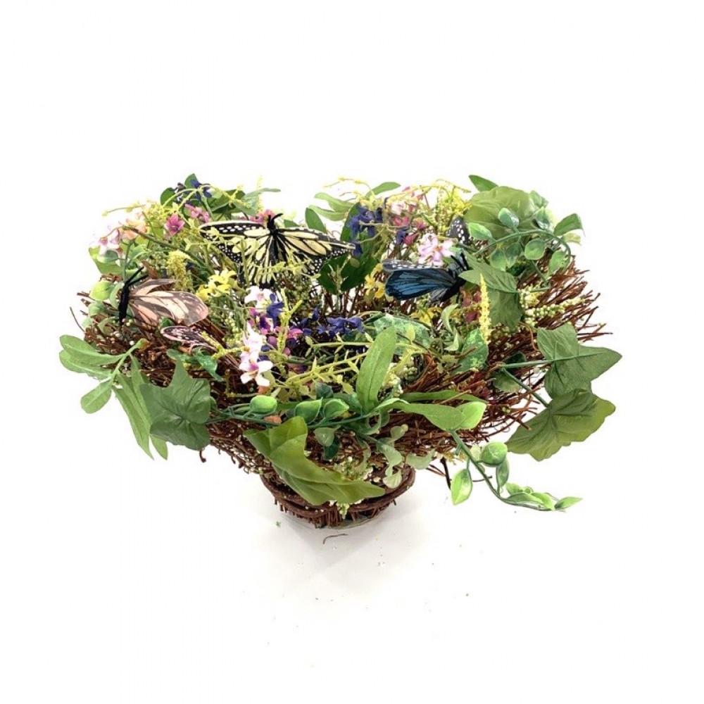 Flower Basket With Butterflies