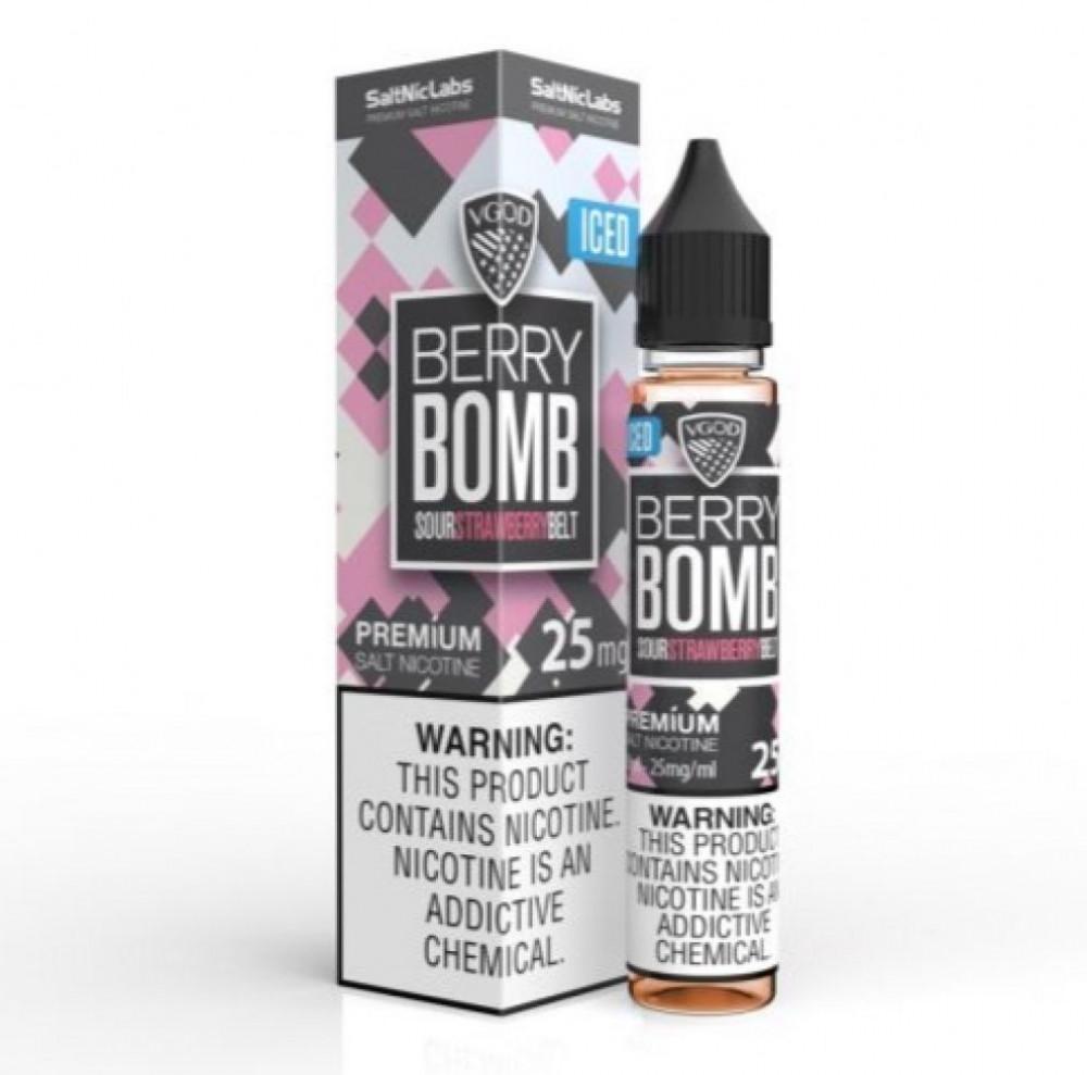 نكهة في قود بيري بومب ايس فراولة - سولت - VGOD BERRY BOMB ICED Salt