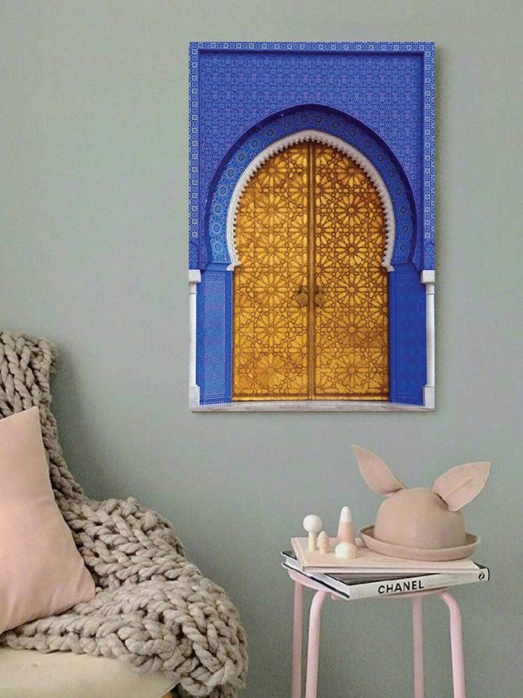 لوحة الباب الذهبي خشب ام دي اف مقاس 40x60 سنتيمتر