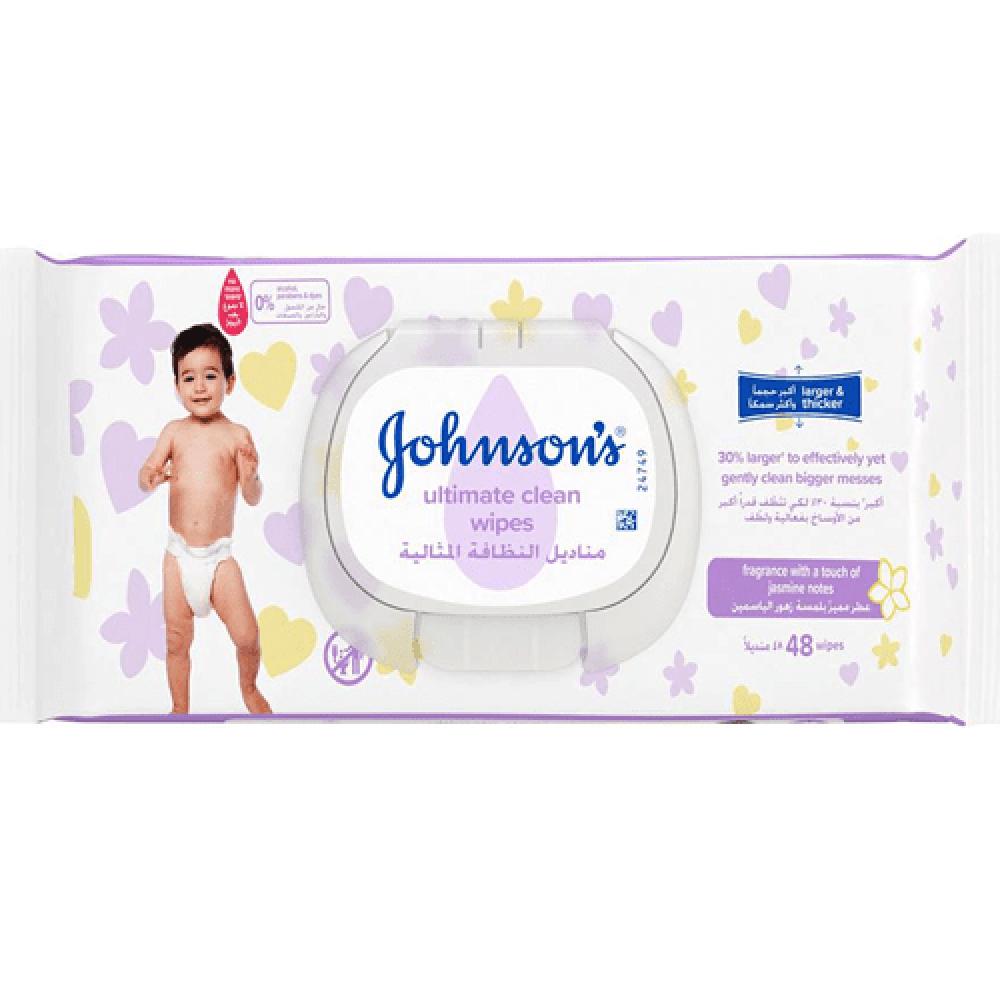 مناديل النظافة المثالية من جونسون - 48 منديل