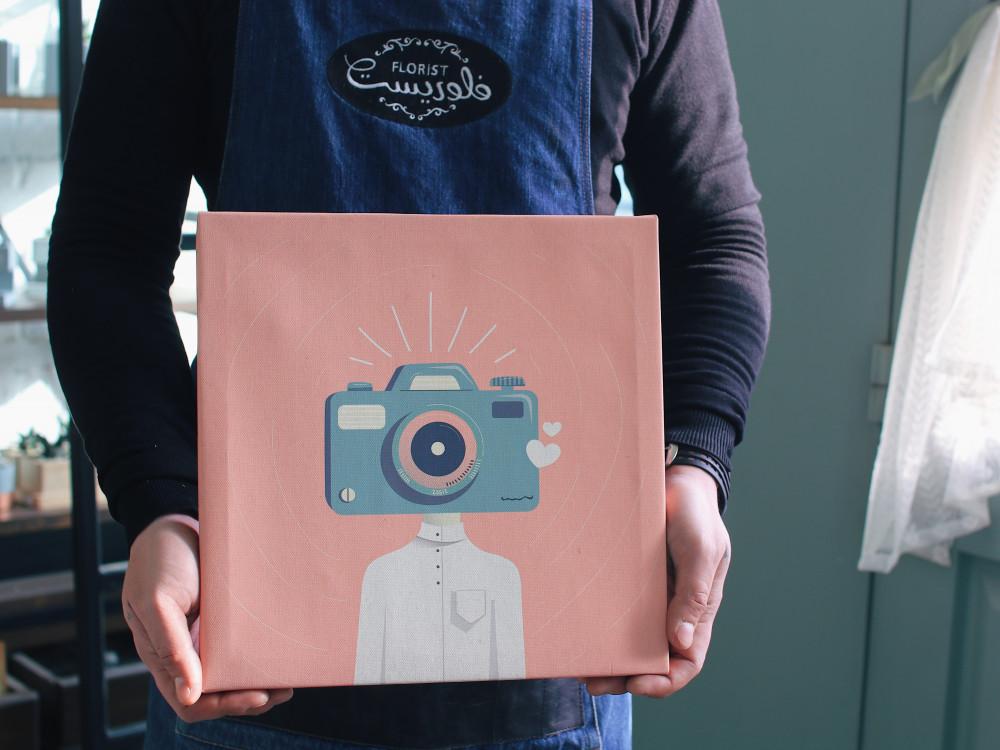 لوحة كانفس هدية للمصورين رأس المصور