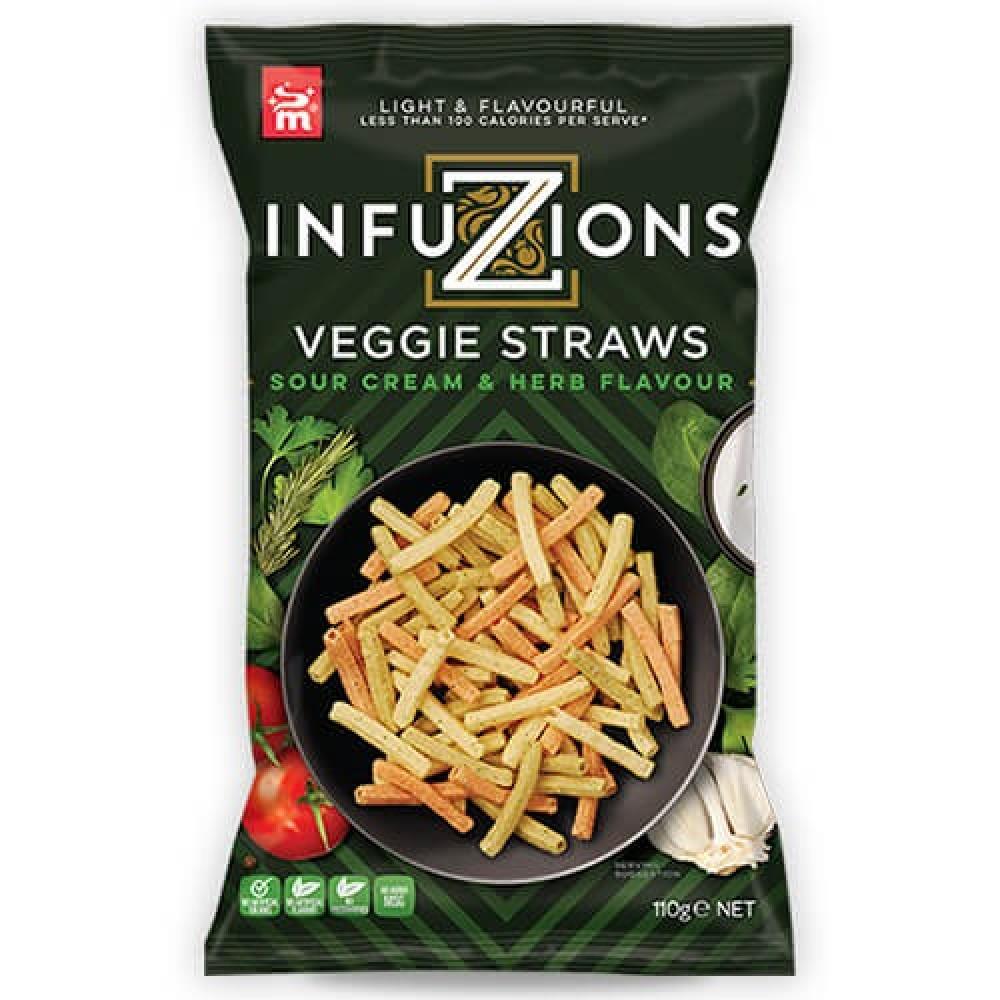 أصابع الخضروات بنكهة الكريمة الحامضة والأعشاب 110 جرام