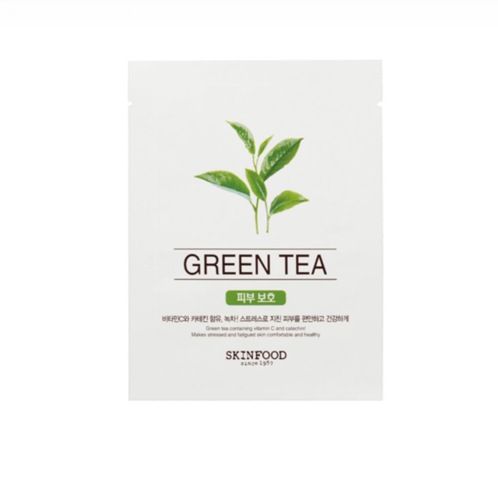 ماسك بالشاي الأخضر للبشرة الباهتة والمجهدة