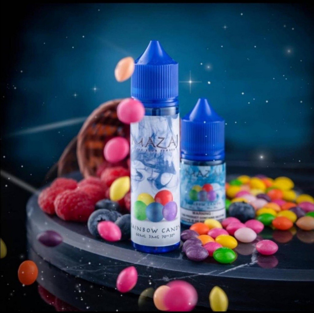 نكهة مزاج حلوى قوس القزح 60 مل 3mg rainbow candy mazaj