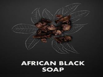 مجموعة صابون الاسود الافريقي للوجة والجسم