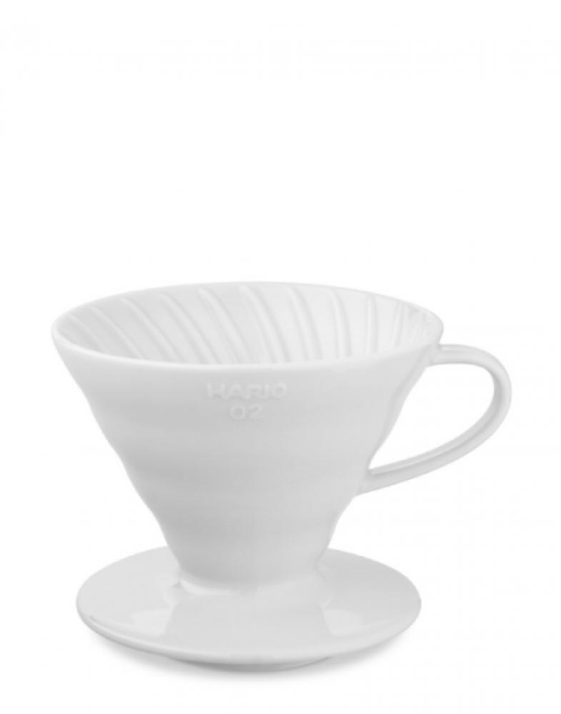 قمع ترشيح أبيض سيرايك أدوات تحضير القهوة