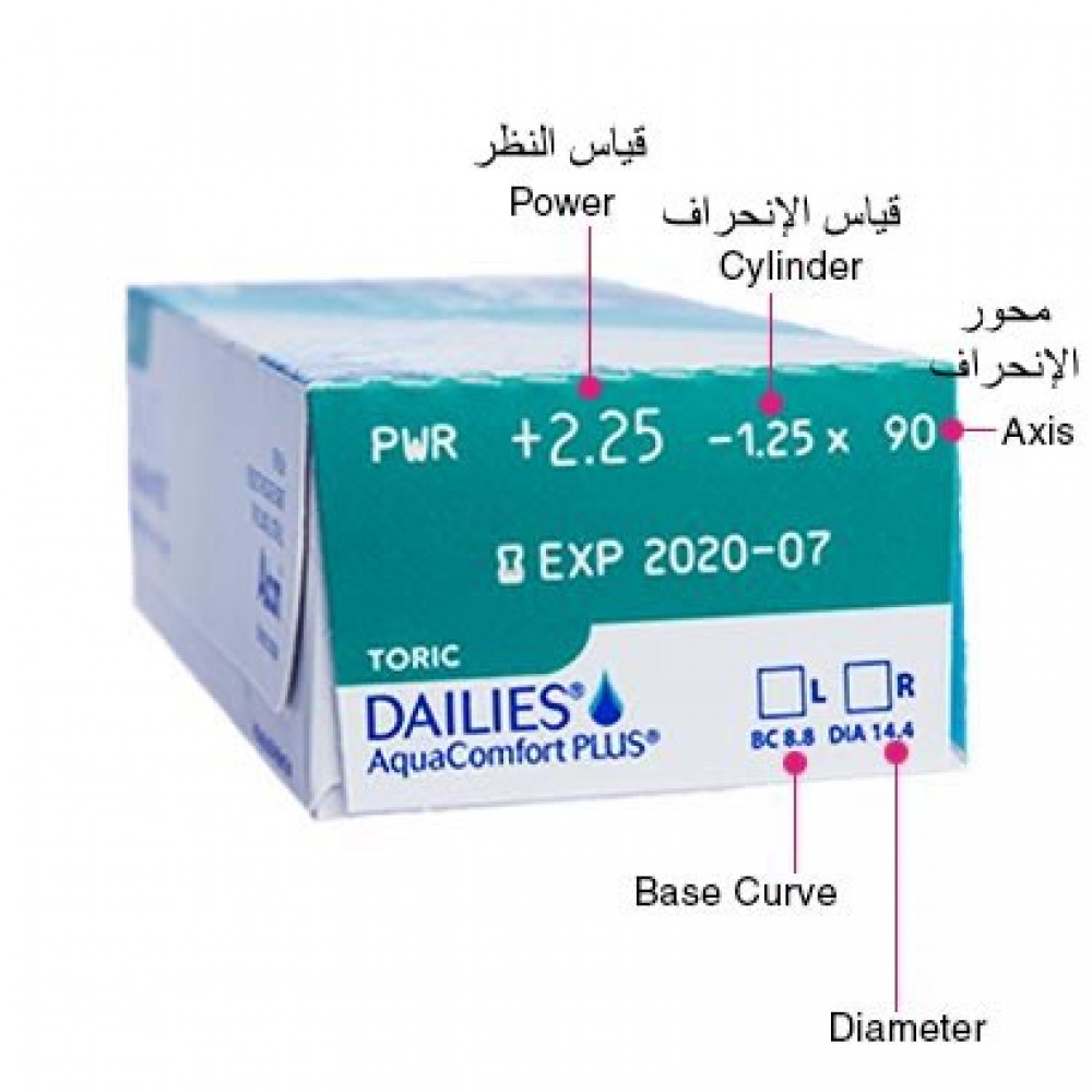dailies aqua comfort toric contact lenses