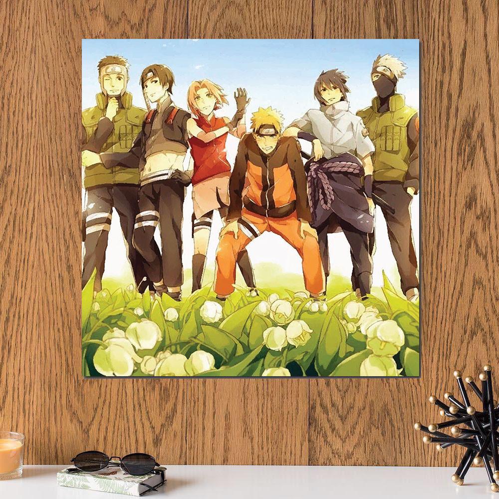 لوحة انمي ناروتو خشب ام دي اف مقاس 30x30 سنتيمتر