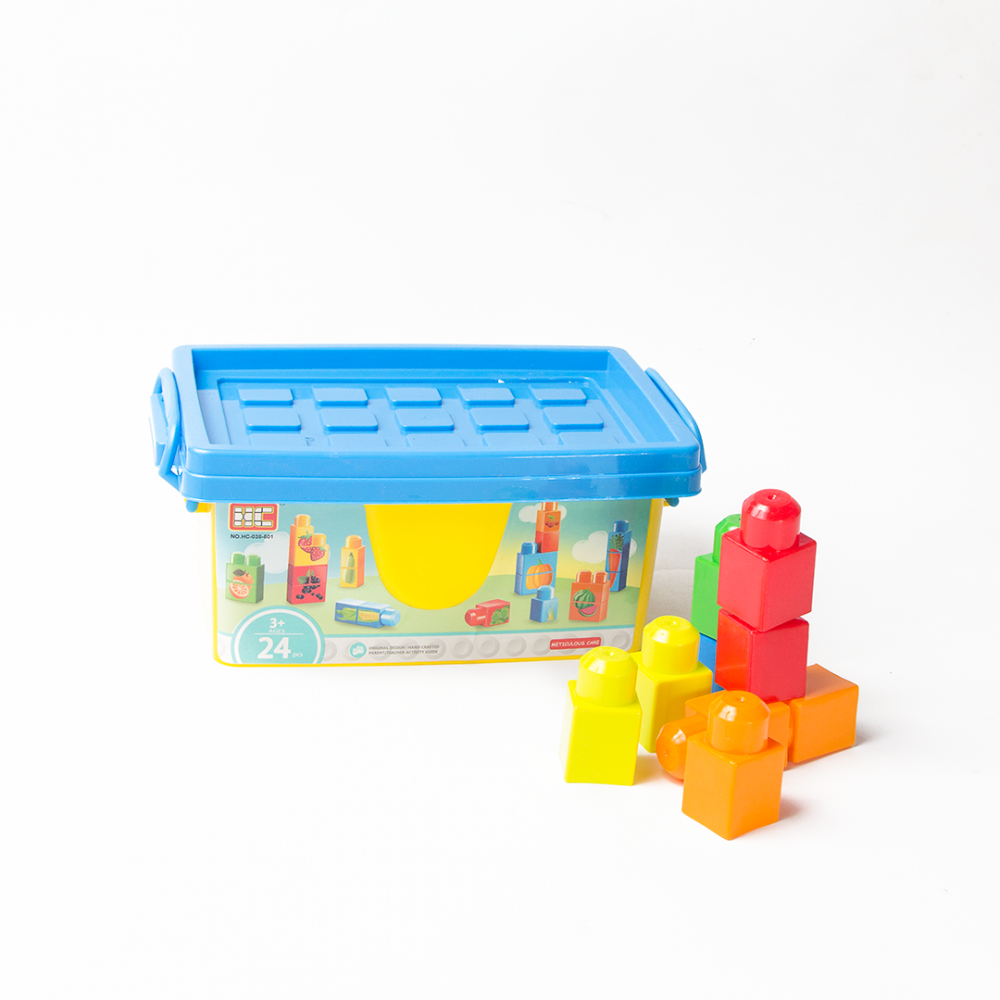 مكعبات-24 قطعة اللعاب التشيد والبناء مكعبات تركيب مكعبات لعب اطفال