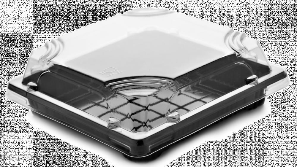 صحون اسود مربع بغطاء شفاف مقاس 11 50 حبة