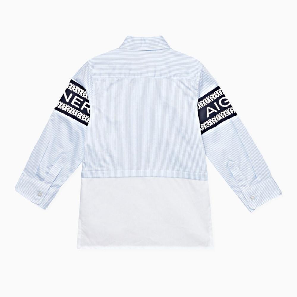 قميص باللون السماوي من ماركة Aigner من دوها