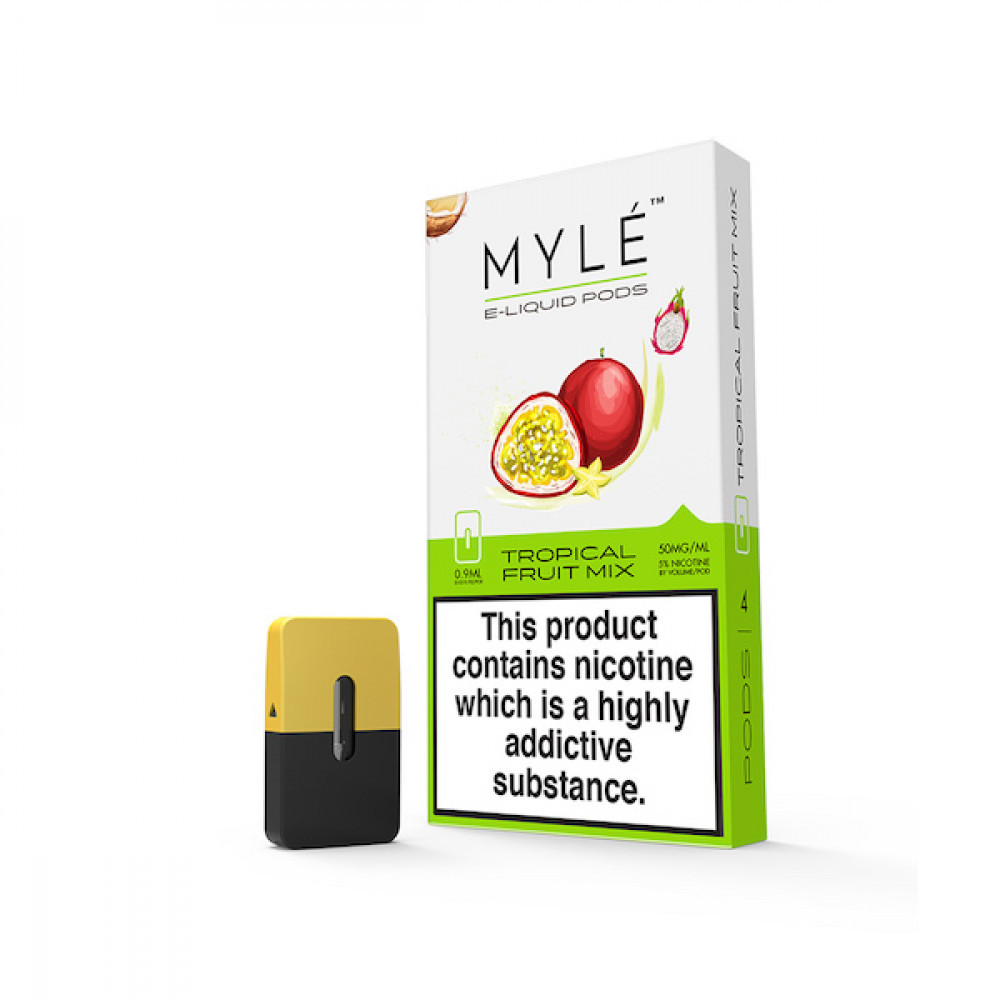 بودات مايلي بنكهة تروبيكال فروت ميكس MYLE PODS TROPICAL FRUIT MIX