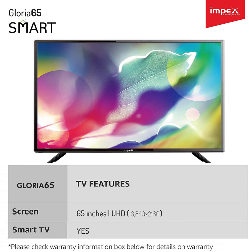 تلفزيون امبكس 65 بوصة ال اي دي الترا اتش دي 4K الذكي -  Gloria65Smart