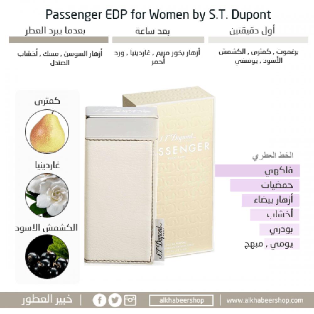 S T Dupont Passenger for Women Eau de Parfum متجر خبير العطور