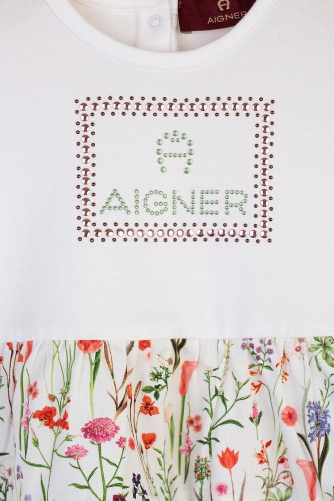 فستان بنقشة زهور من ماركة Aigner من دوها