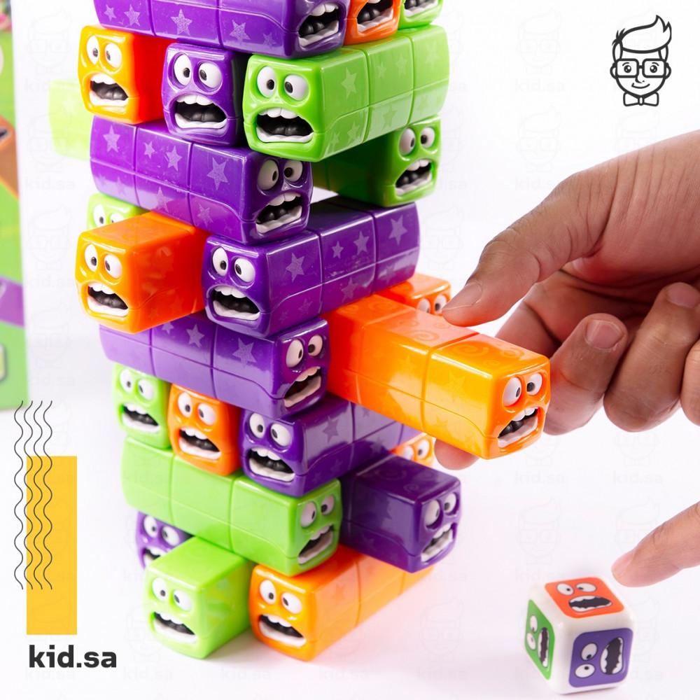 لعبة جنجا البرج بلاستيك بوجوه تعبيرية