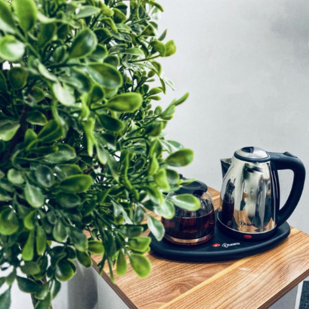 غلاية فندقية ابريق الشاي قهوه كراون غليان الماء كوب ابريق