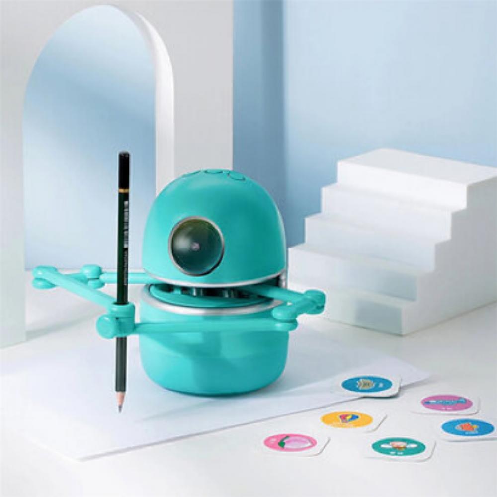كوينسي روبوت  الرسم رسام روبوت الي مساعد تعلم تعليم منزل انجليزي من 3