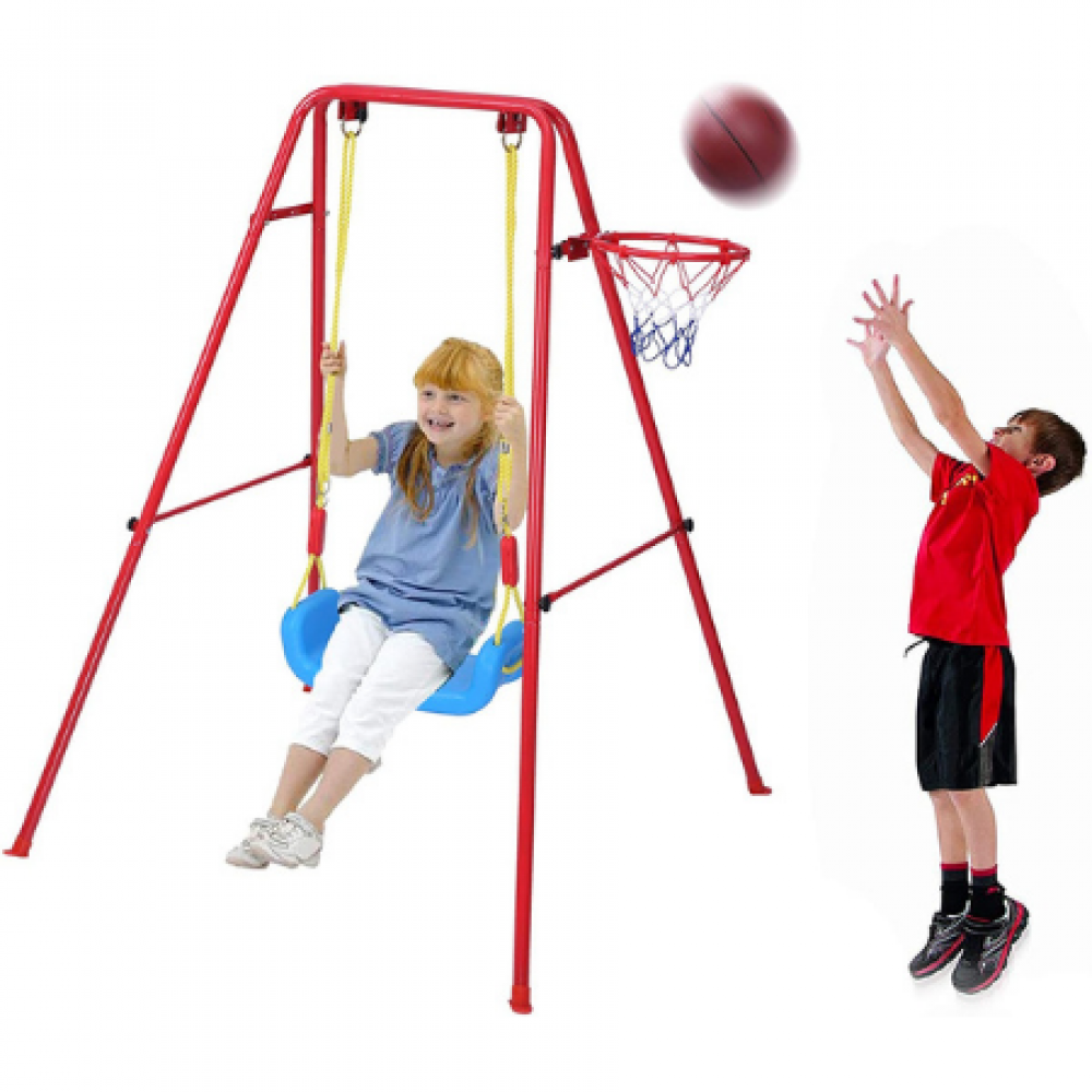 لعبة مرجحية كرة كرة سلة لعب الخارج الداخل هدية طفل اطفال مسلي سهل التخ