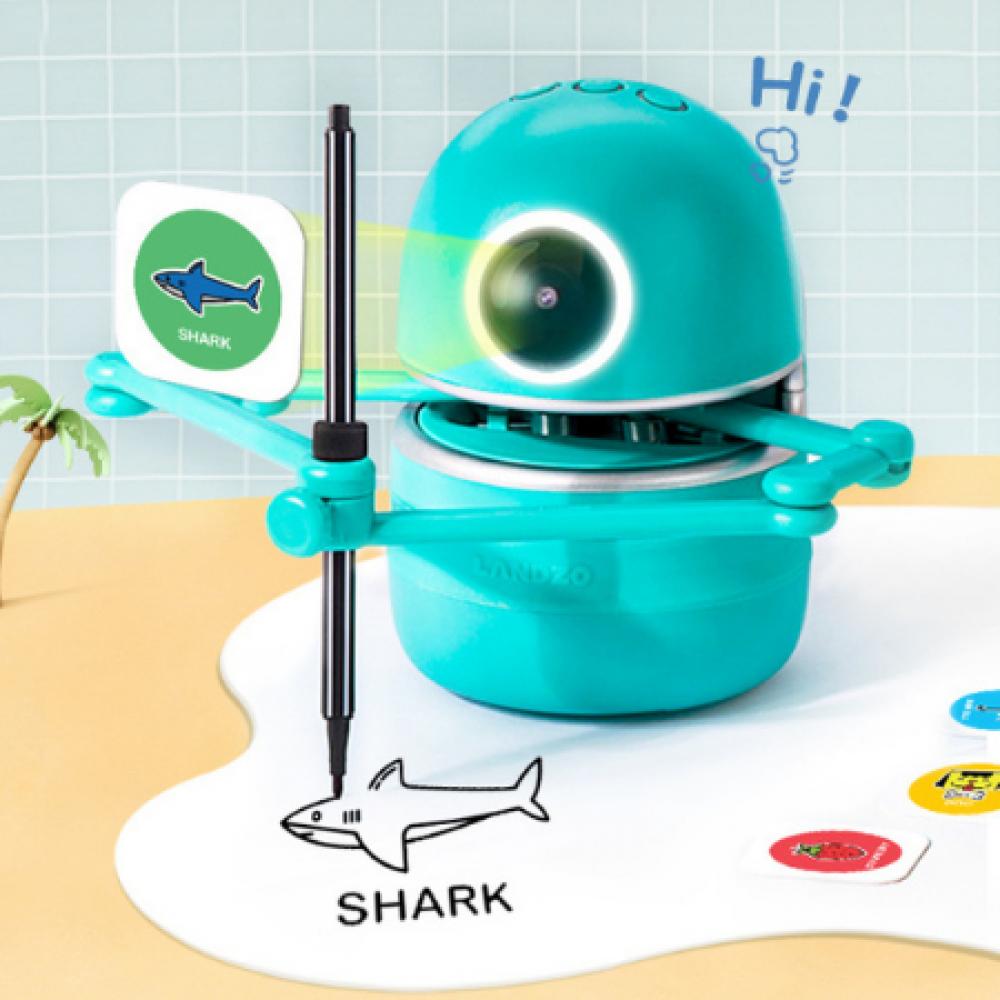 كوينسي روبوت  الرسم رسام روبوت الي مساعد تعلم تعليم منزل انجليزي مدرسة