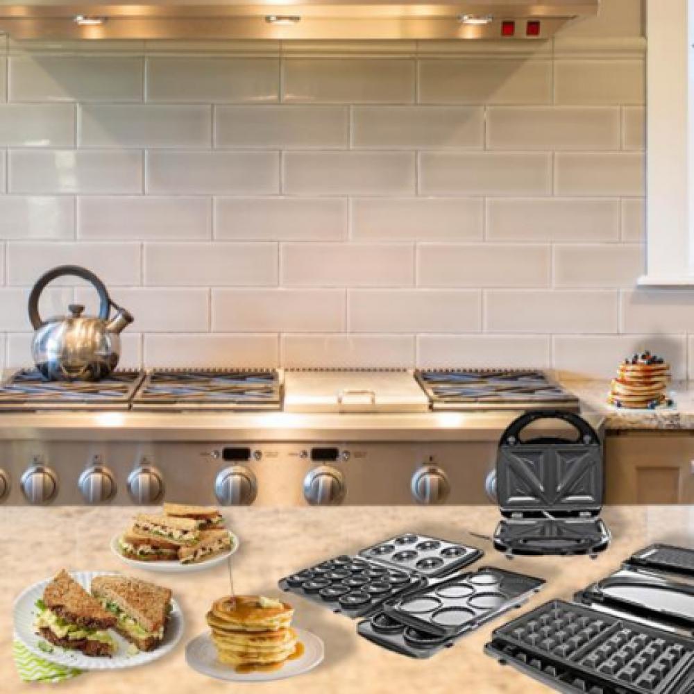 أطباق ساتشي صانعة الوجبات الخفيفة اسود اومليت سريعة التحضير دونات طازج