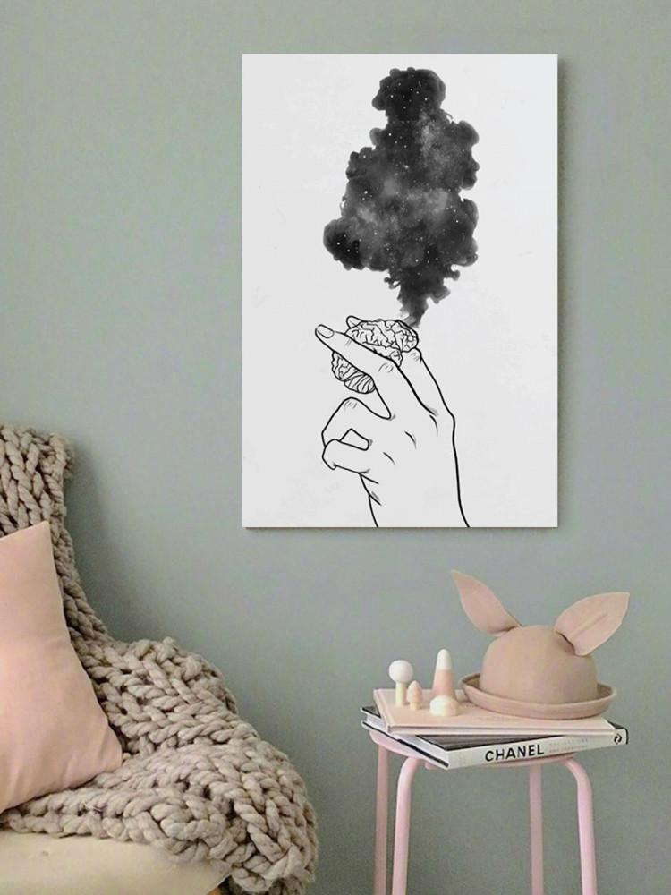 لوحة قلب محترق خشب ام دي اف مقاس 40x60 سنتيمتر