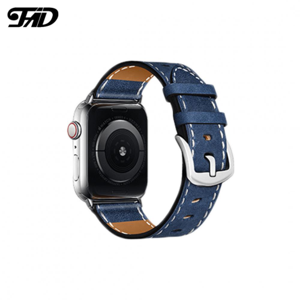سوار جلدي فاخر لساعة أبل Apple Watch بثلاث ألوان مختلفة لجميع المقاسات