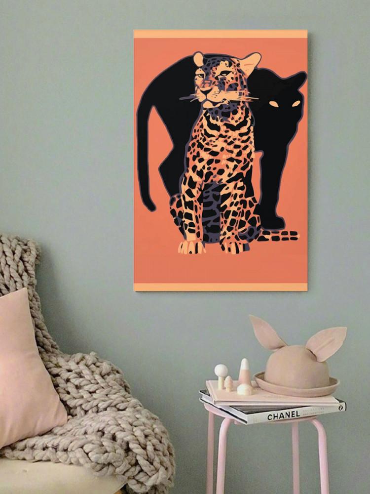 لوحة الفهد و الجاكوار خشب ام دي اف مقاس 40x60 سنتيمتر