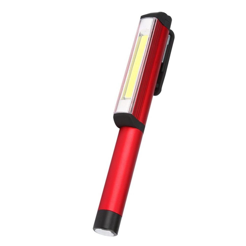 مصباح كشاف على شكل قلم جيب من الألومنيوم مع قاعدة مغناطيس