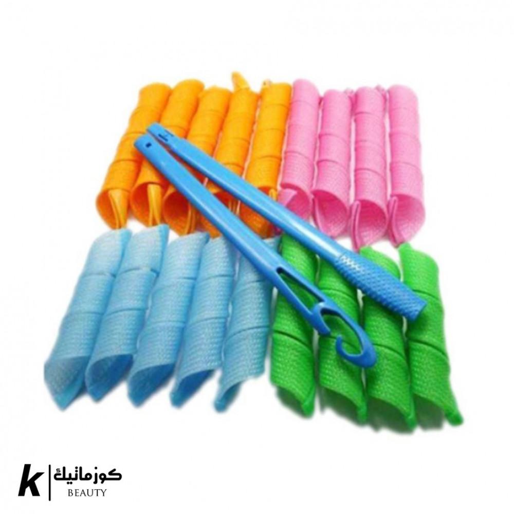 طقم أدوات تصفيف الشعر بشكل مجعد ومموج 18 قطعة متعدد الألوان