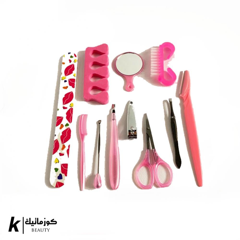 مجموعة أدوات العناية بالأظافر والقدمين مكونة من 11قطعه