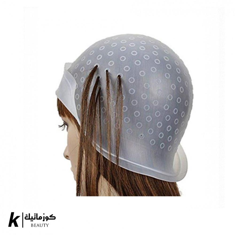 قبعة صبغ الشعر قابل لإعادة الاستخدام أبيض
