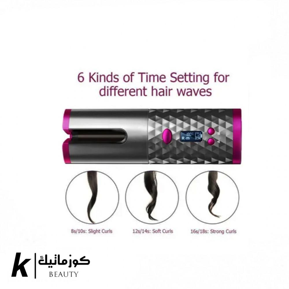 جهاز تمويج الشعر اللاسلكي المحمول