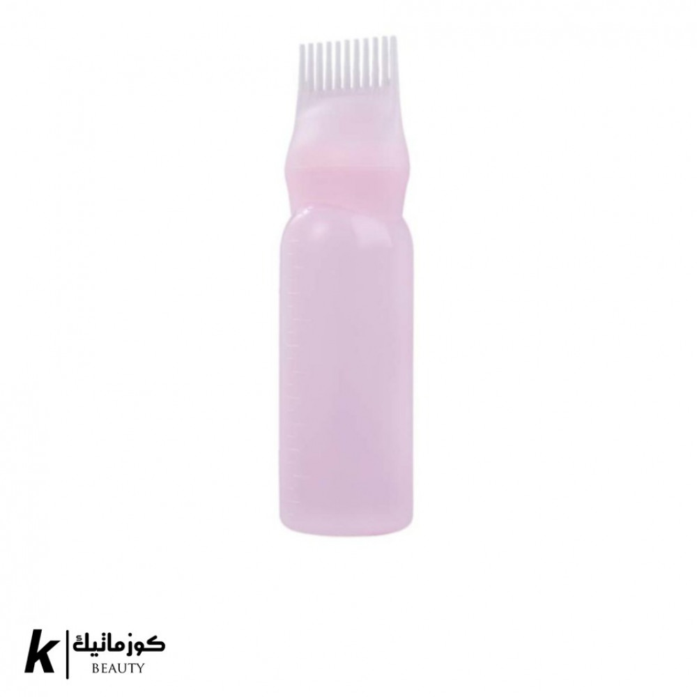 زجاجة صبغة الشعر مع فرشاة لوضع الصبغة وردي 30غم