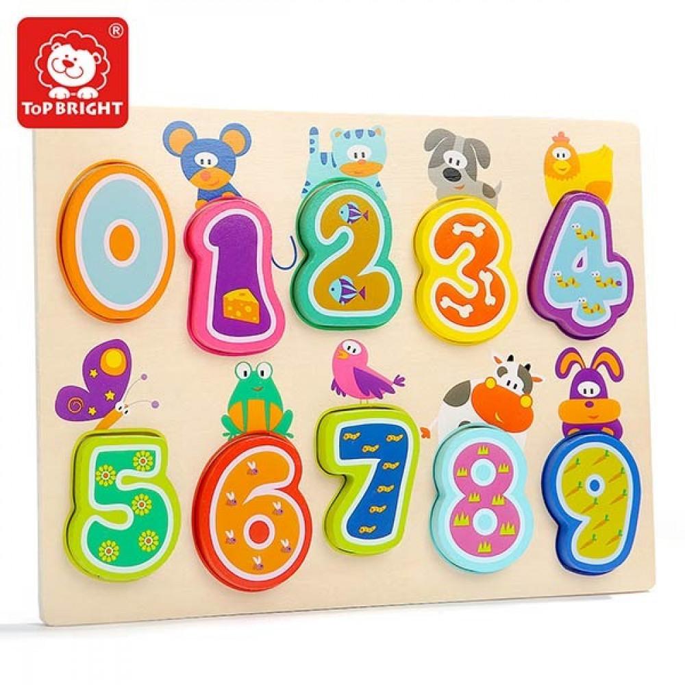 أحجية الحيوانات مع الأرقام إنجليزي