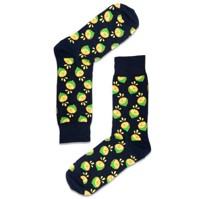 جوارب قطنيه ملونة-  تصميم ابداعي  - جورب الليمون - متجر أبوجي