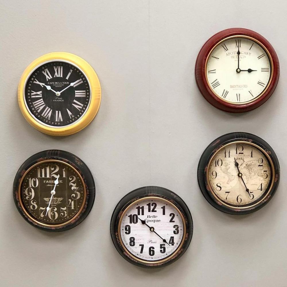 ساعة حائط حديد انتيك ملون ساعات ساعة انتيك ملونه جدار
