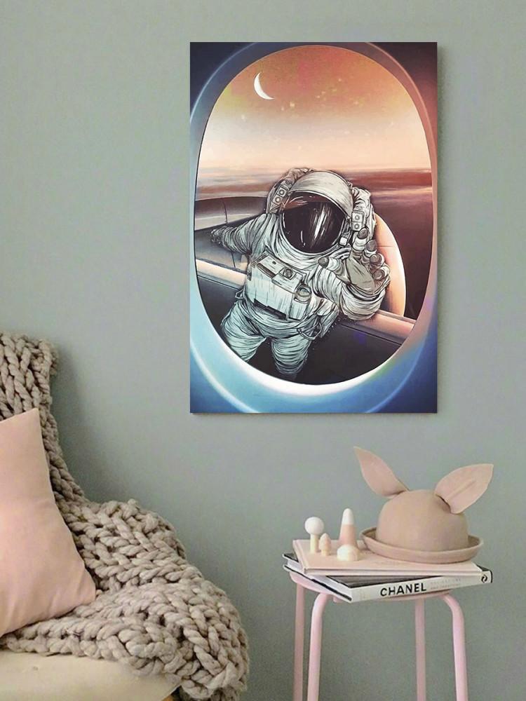 لوحة رائد الفضاء خشب ام دي اف مقاس 40x60 سنتيمتر