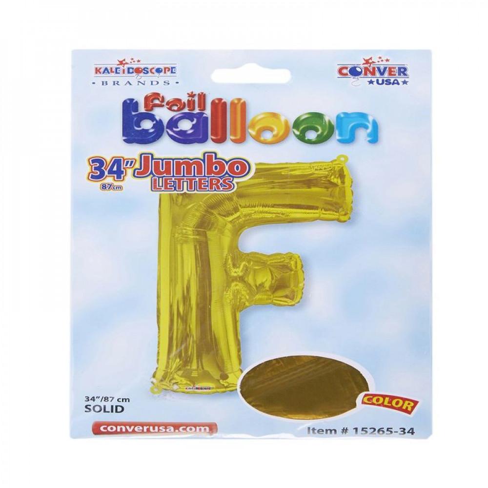 بالون ذهبي, بالون حرف F, بلونات أحرف, Golden Balloon