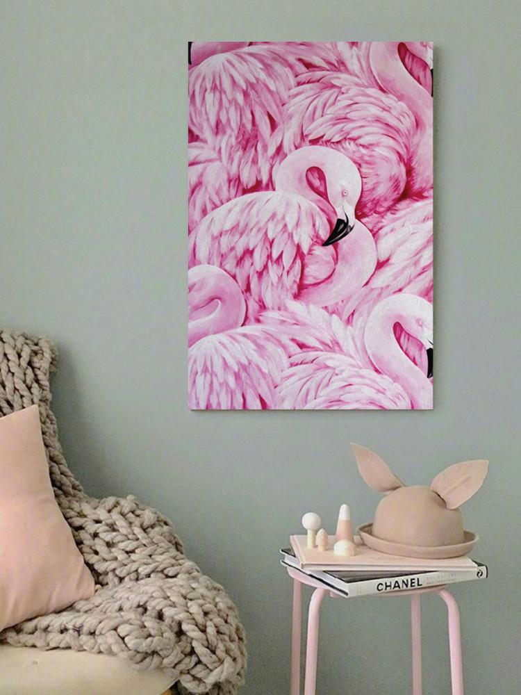 لوحة فلامينغو خشب ام دي اف مقاس 40x60 سنتيمتر