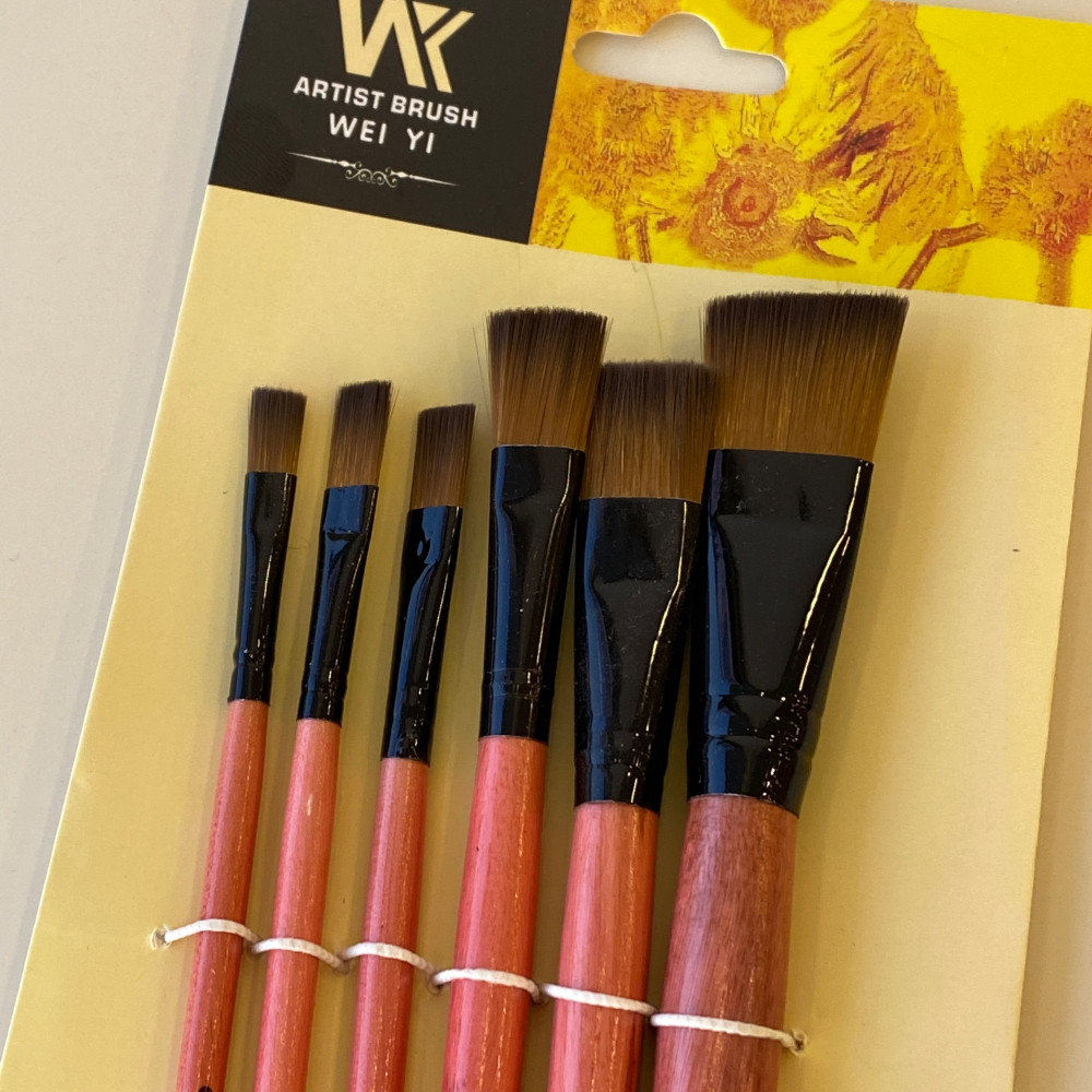 Wei Yi Artist brush for oil and Acrylic and watercolor