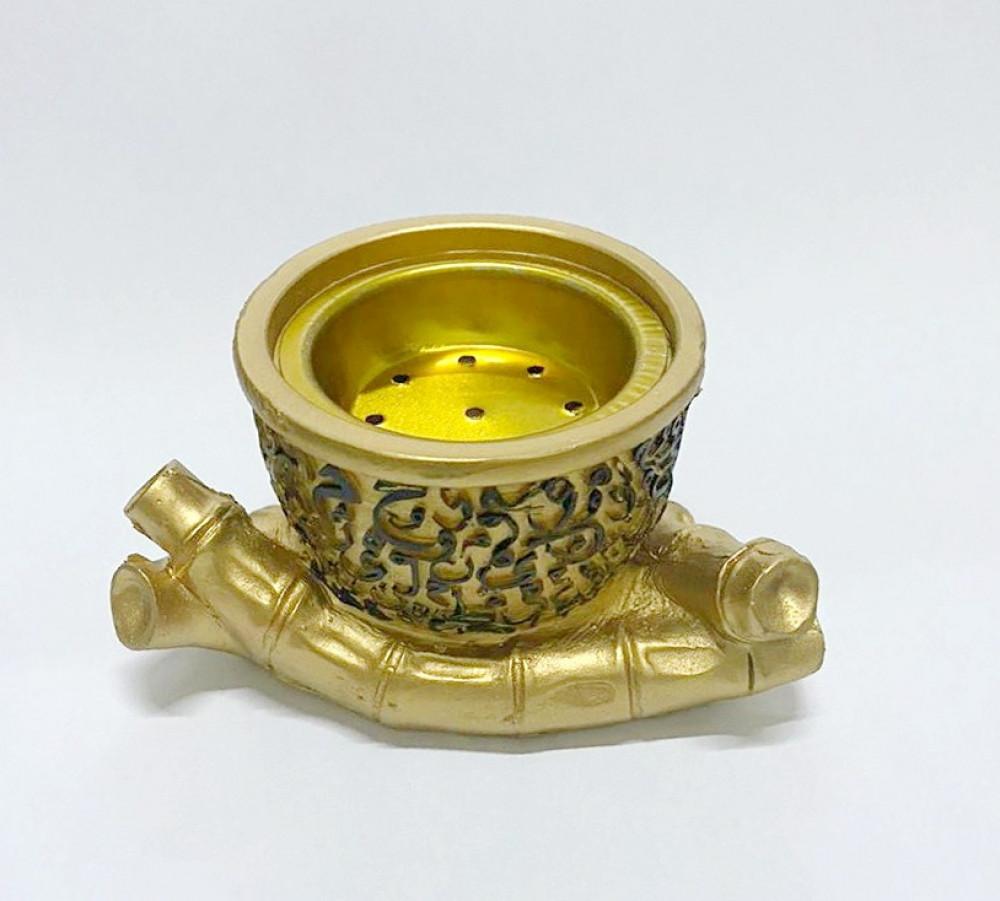 مبخرة من الخزف ذهبي