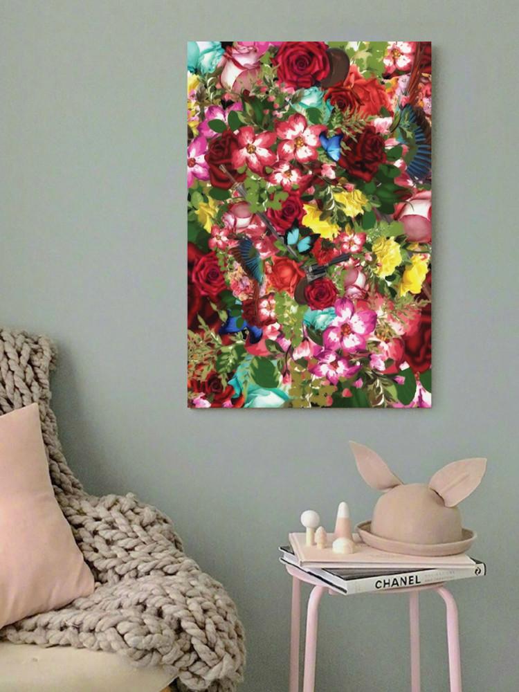لوحة الورود خشب ام دي اف مقاس 40x60 سنتيمتر