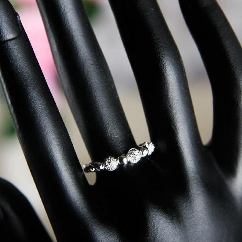 خاتم فضي نسائي