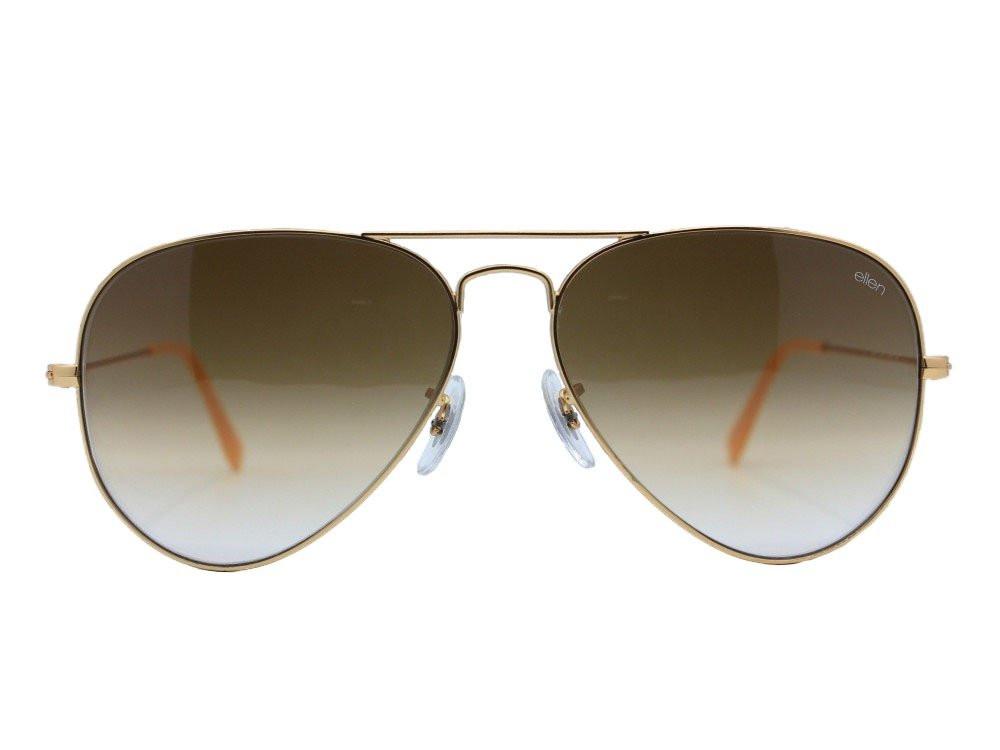 نظاره شمسية بيضاوي  من ماركة ELLEN لون العدسة بني