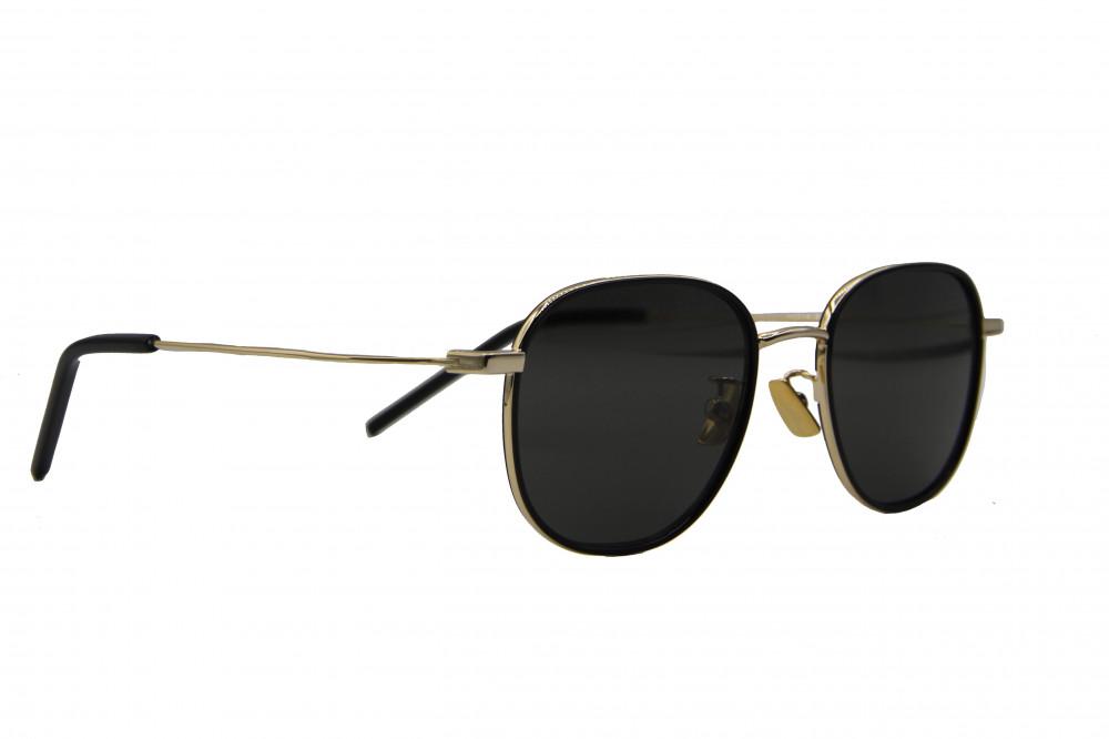 نظاره شمسية دائرية من ماركة SAINIT LAURENT لون العدسة اسود سانت لورانت