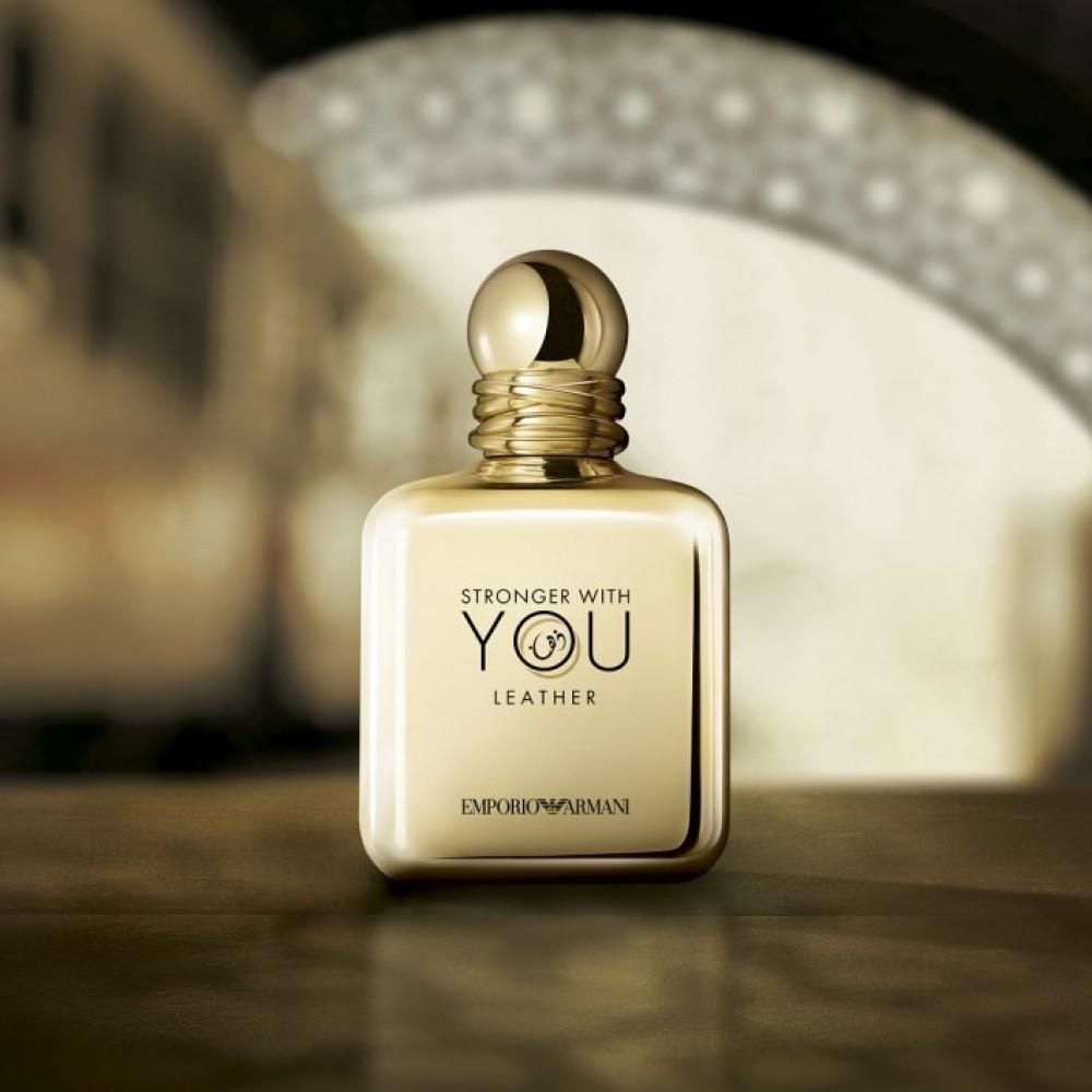 عطر ارماني سترونج وذ يو ليذر armani stronger with you leather parfum
