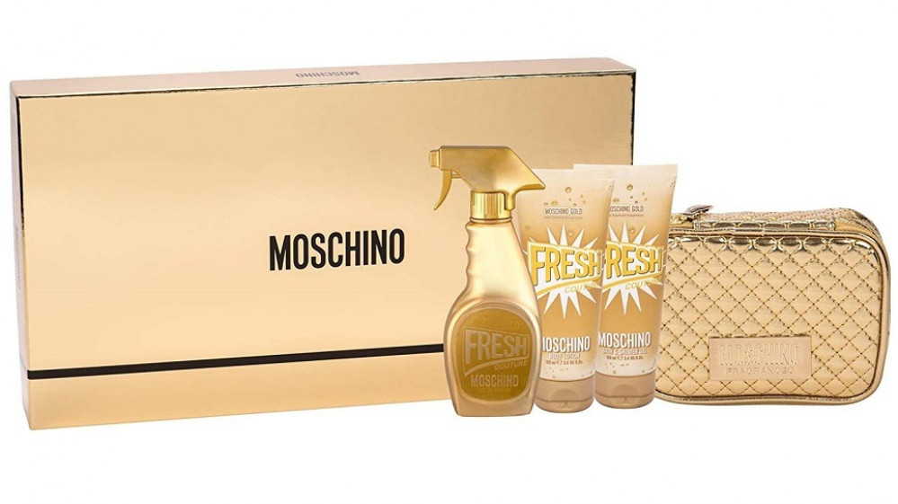 طقم موسكينو فريش قولد moschino fresh gold set