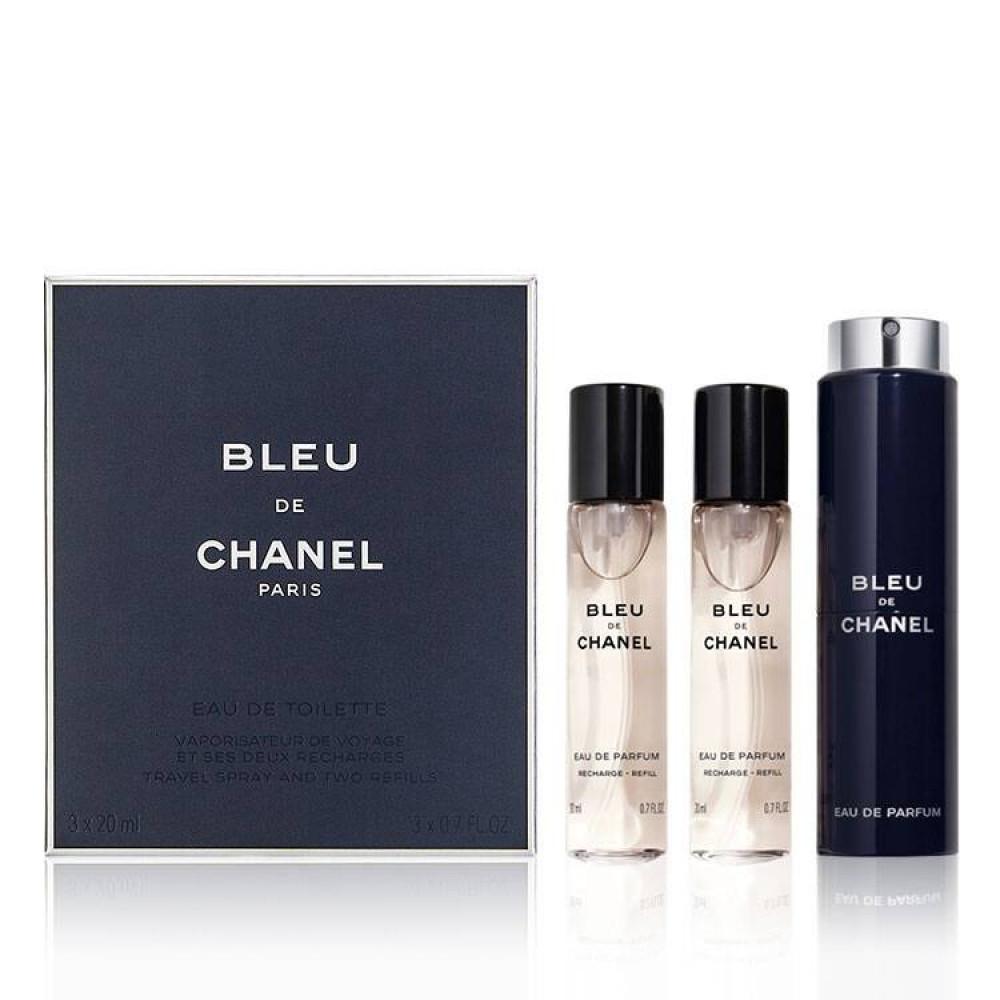 طقم عطور بلو شانيل تواليت  perfume set bleu chanel toilette