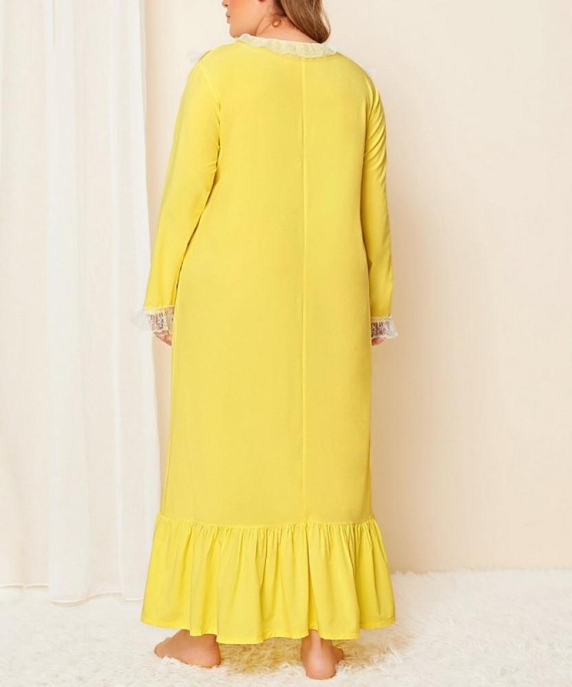 فستان نوم مقاس كبير
